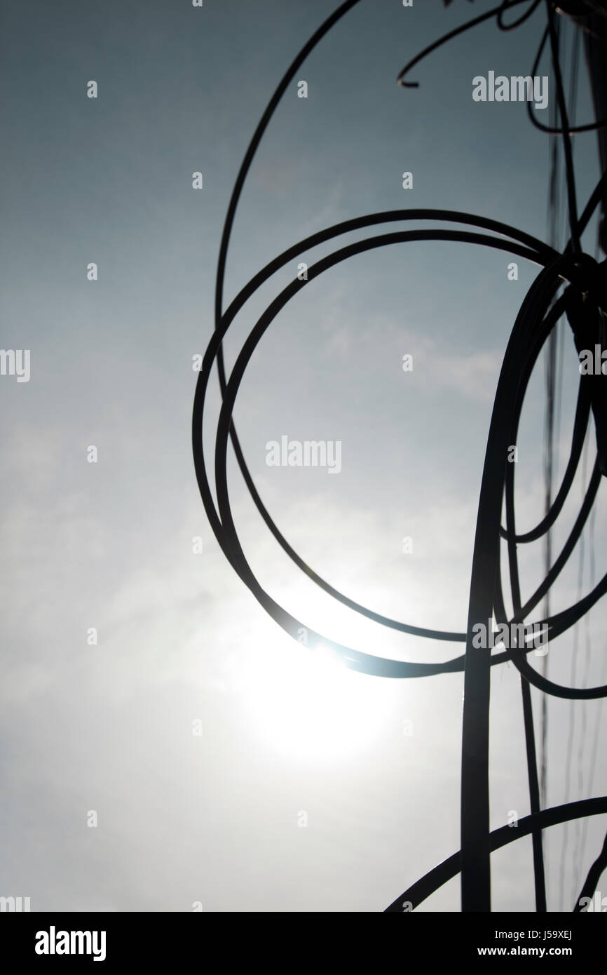 Overhead Cables Thailand - Stock Image