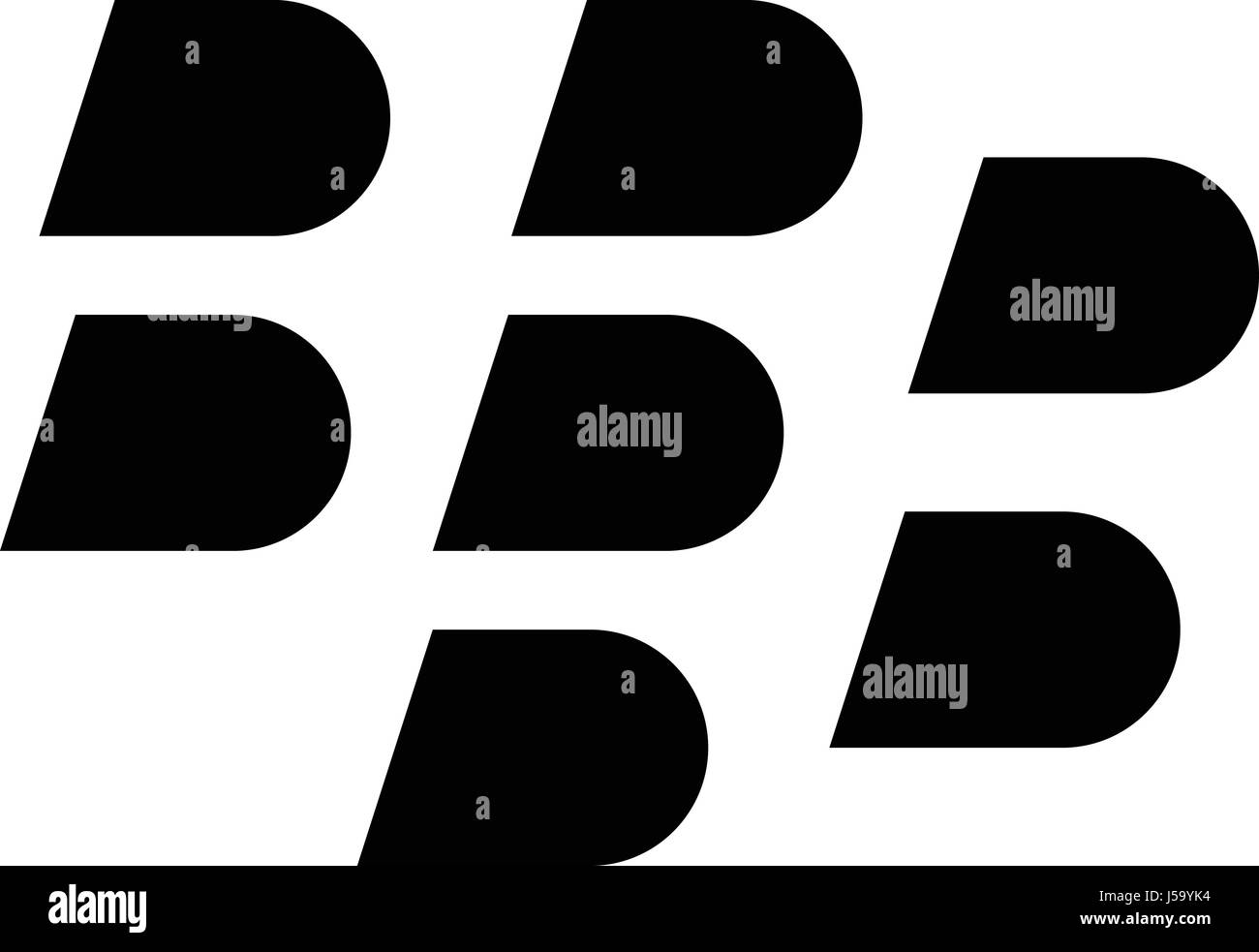 Blackberry Logo Icon Black And White Stock Photos Images Alamy