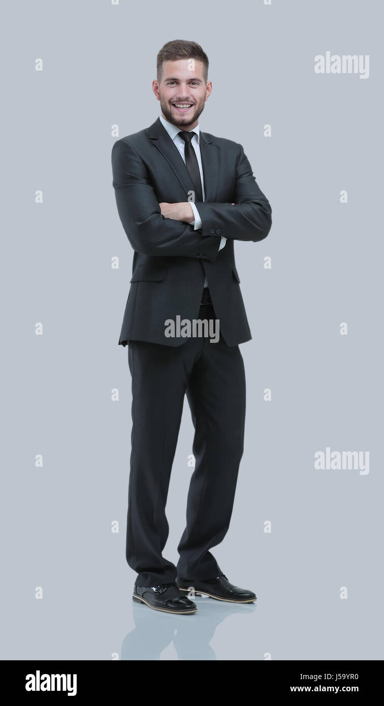 Handsome young business man isolated on white - Stock Image