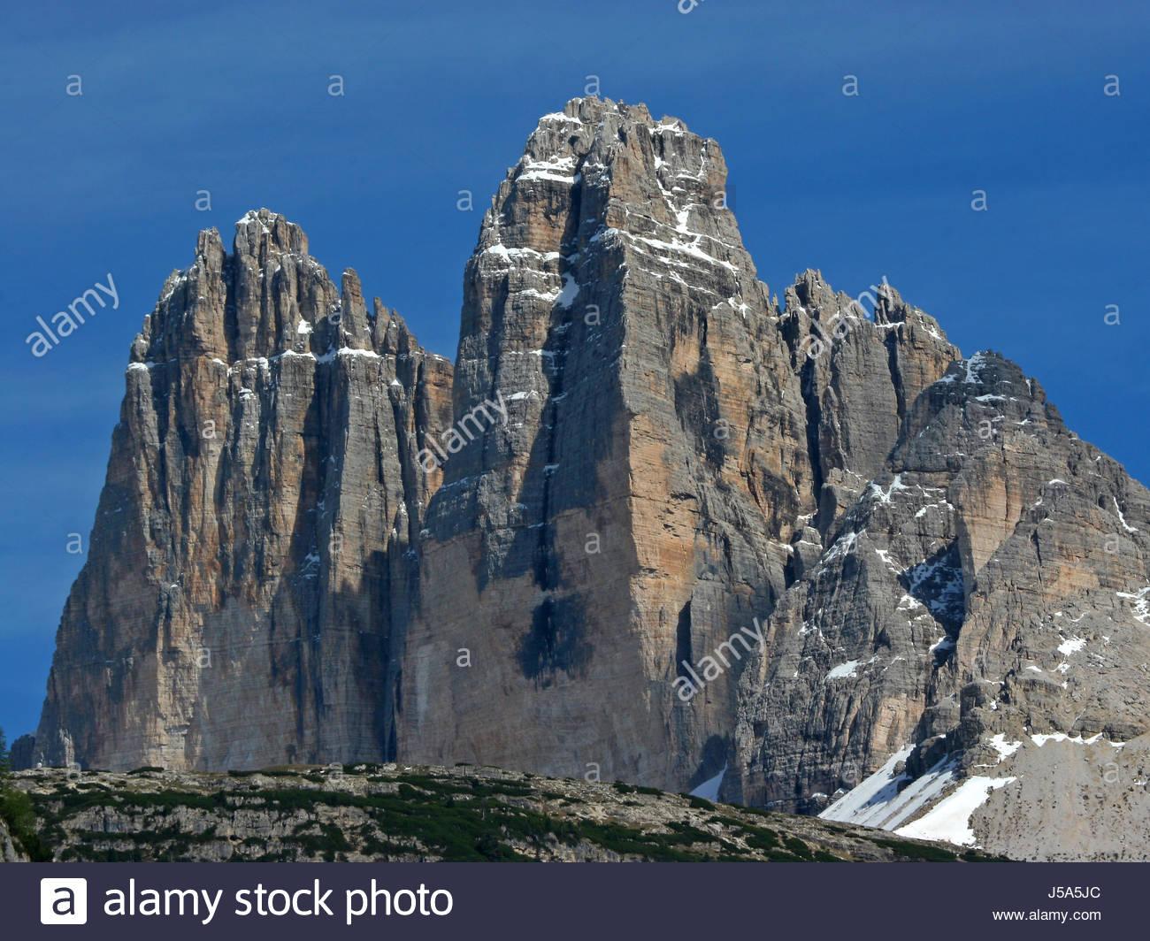 three peaks - Stock Image