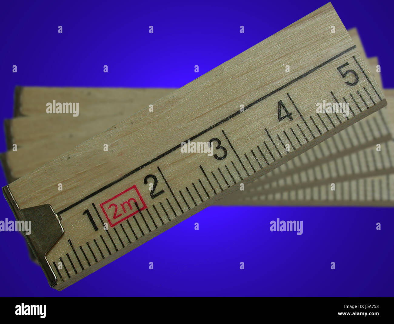 tool build five measured sured measure centimeter business dealings deal - Stock Image
