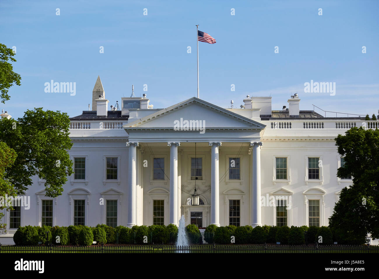 northern facade of the white house Washington DC USA - Stock Image