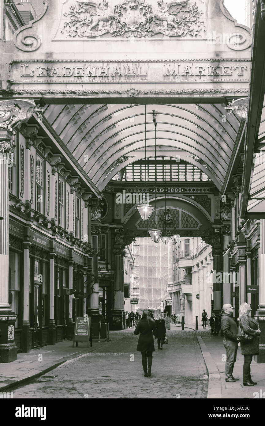 The Leadenhall market - Stock Image