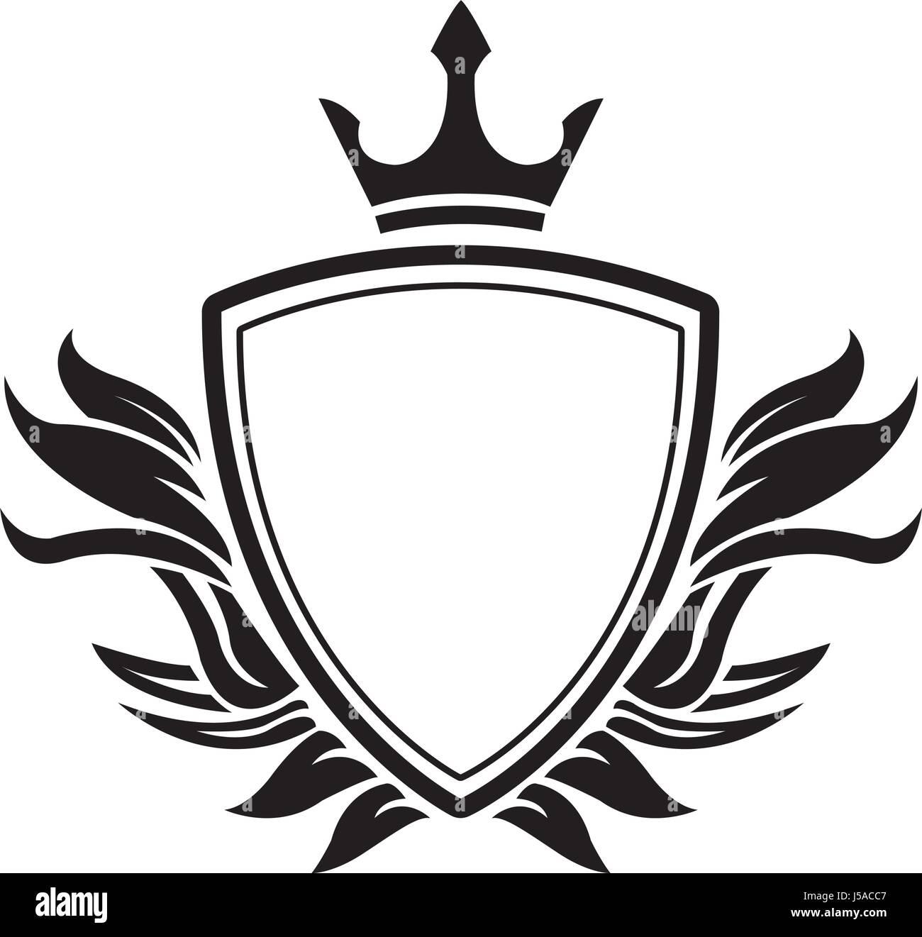 decorative shield crown heraldry victorian elegant frame Stock ...