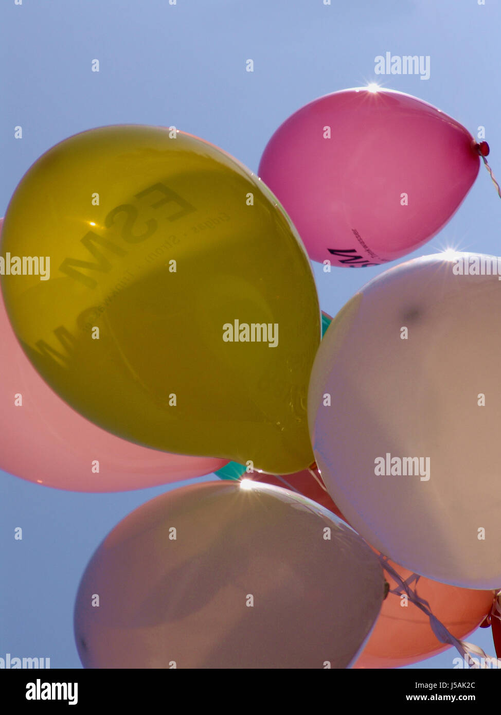coloured colourful gorgeous multifarious richly coloured balloon carnival - Stock Image