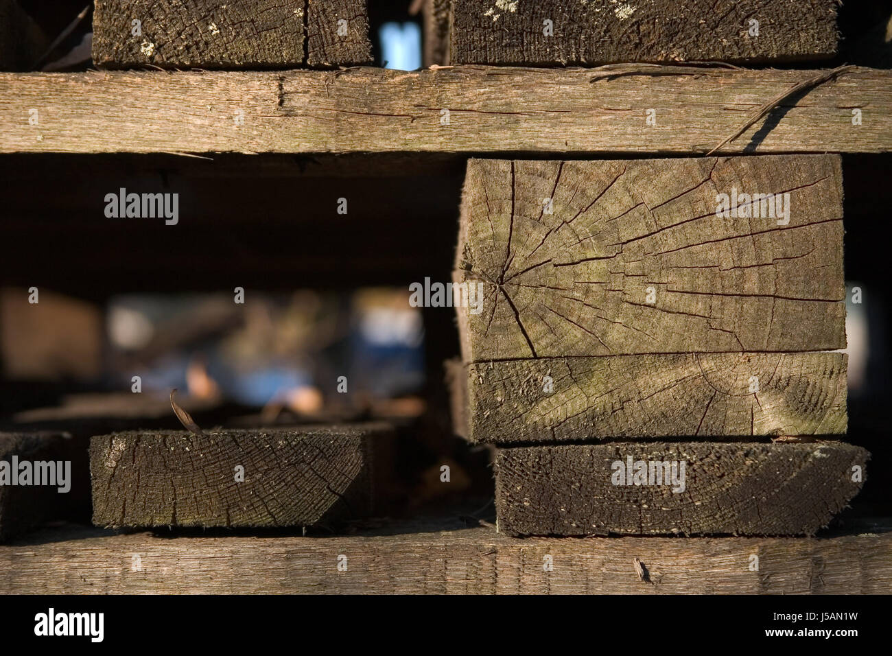 wood beam ailing forget shelf canvas superfluous decayed palette pallet old Stock Photo