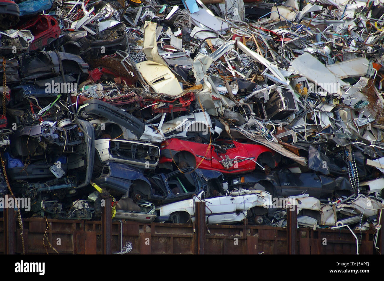 harbor transport sheet metal harbours raw material scrap utilization exploit Stock Photo