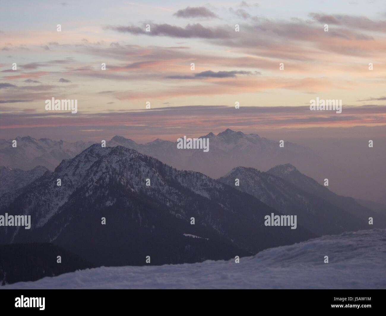 mountains,winter,dream,mountain,bergwelten,weitblicke,fernsichten - Stock Image
