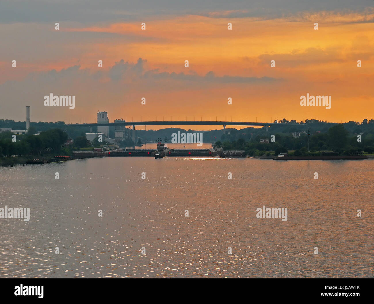 navigation water north sea salt water sea ocean channel baltic sea evening Stock Photo