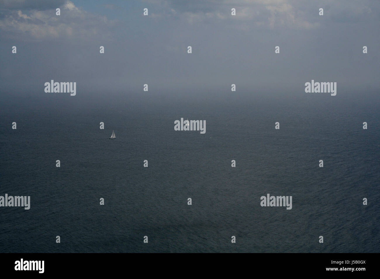 the baltic sea near mn klint - Stock Image