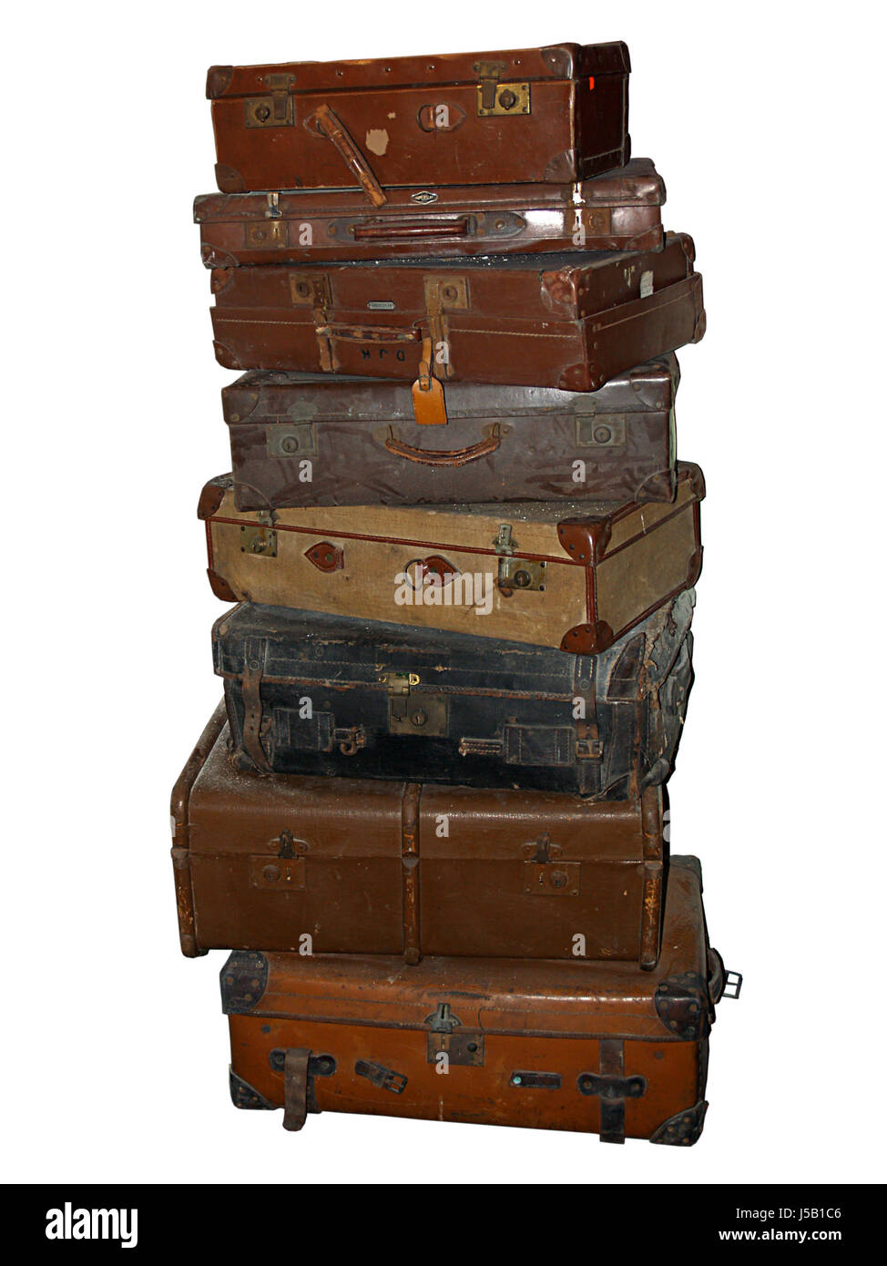 travel historical story holiday vacation holidays vacations leather metal to - Stock Image