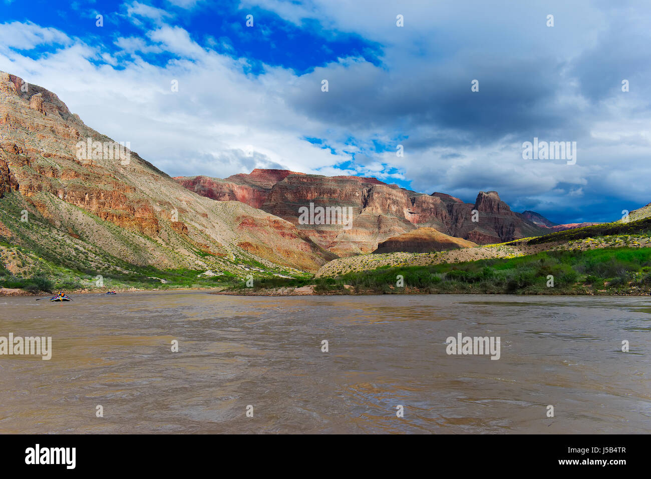 Cliffs from the Colorado River, Grand Canyon, USA - Stock Image
