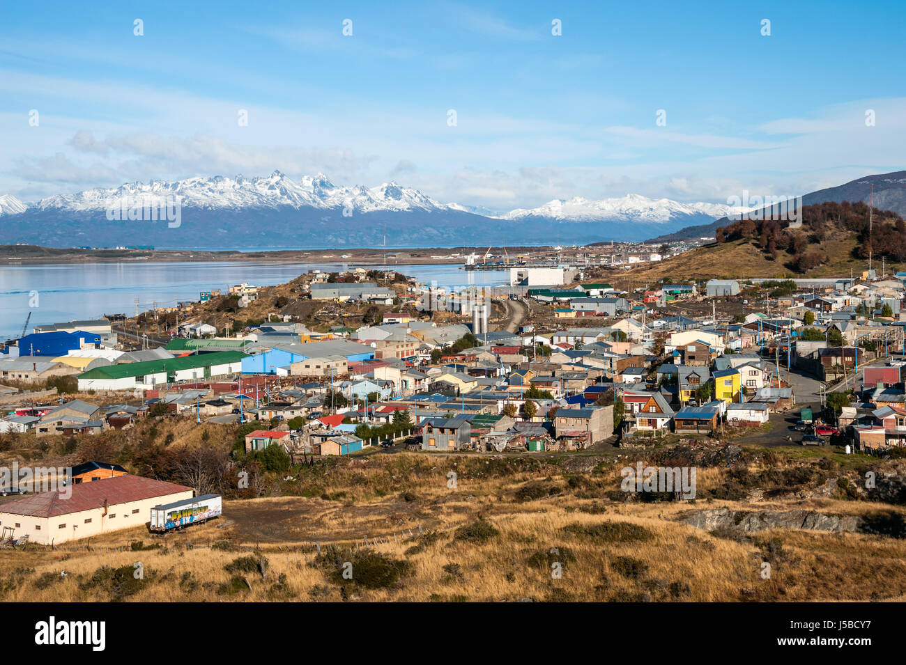 Ushuaia, Argentina - April 18, 2011: Ushuaia is the southernmost city and port in the world - capital of the Argentine - Stock Image