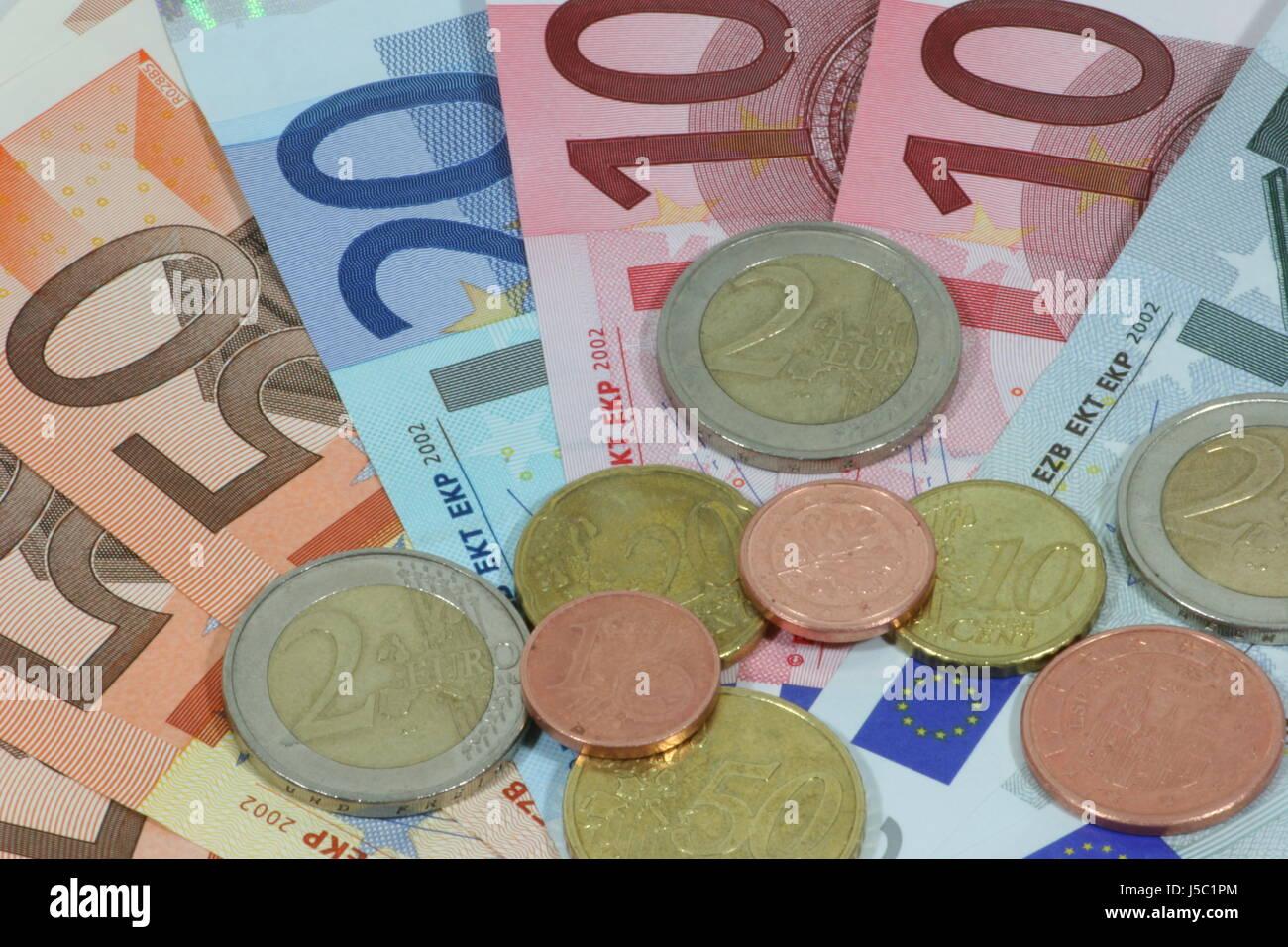 Euro Tickets Specie Money 50euro 20euro 10euro 5euro 2euro 1euro 50cent 20cent