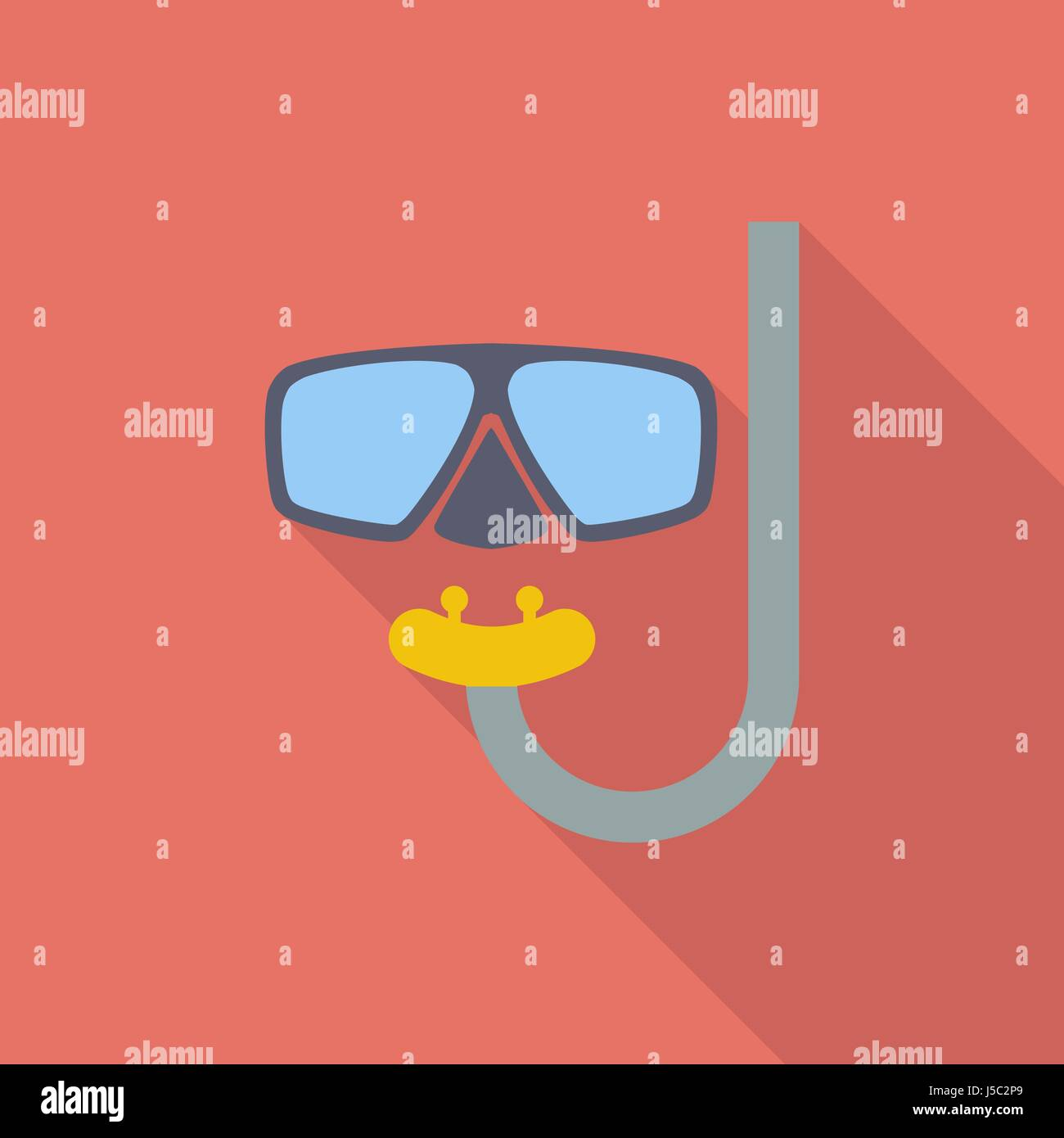 Diving icon. Flat vector related icon with long shadow for web and mobile applications. It can be used as - logo, - Stock Image