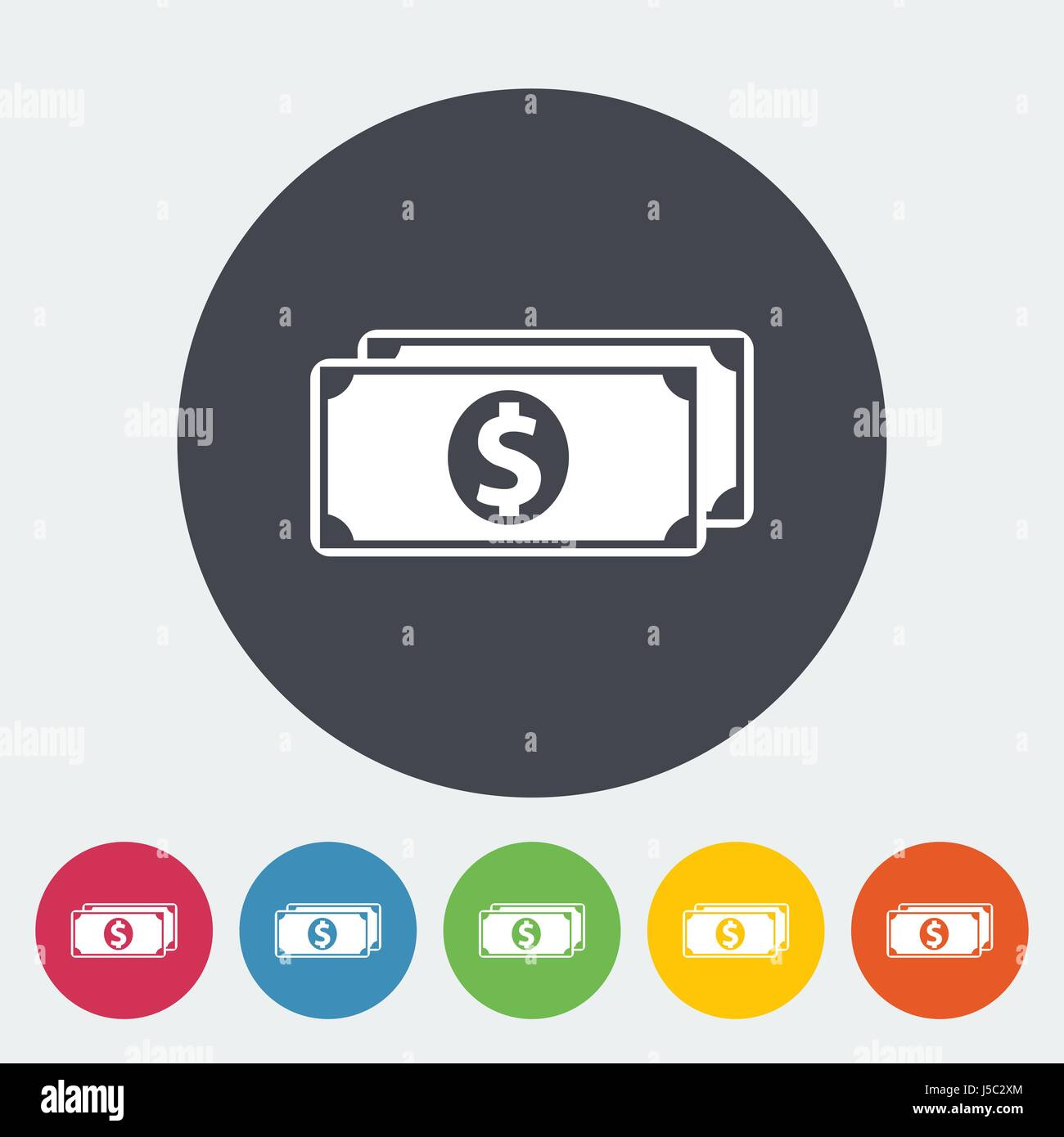 Dollar Single flat icon. Vector illustration. EPS 10 - Stock Image