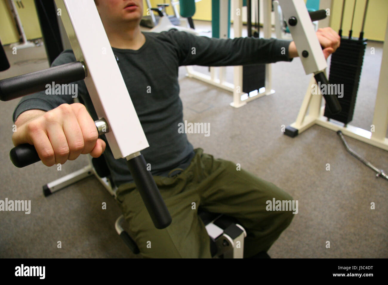 sport sports strong muscles sporty athletic wiry pithy heavyset tight sporting Stock Photo