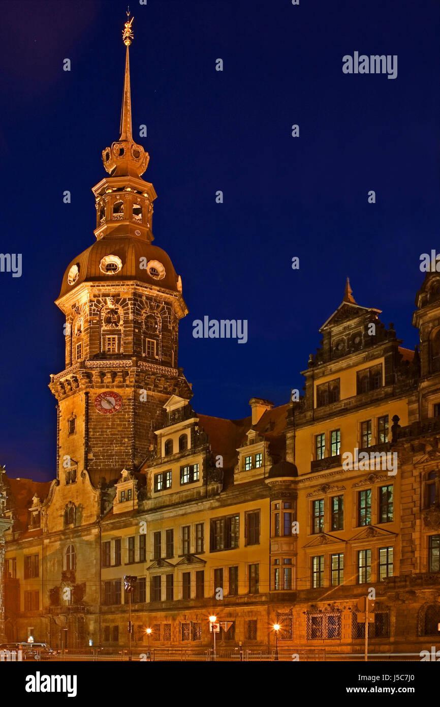 story baroque Dresden art-history german federal republic germany theaterplatz Stock Photo