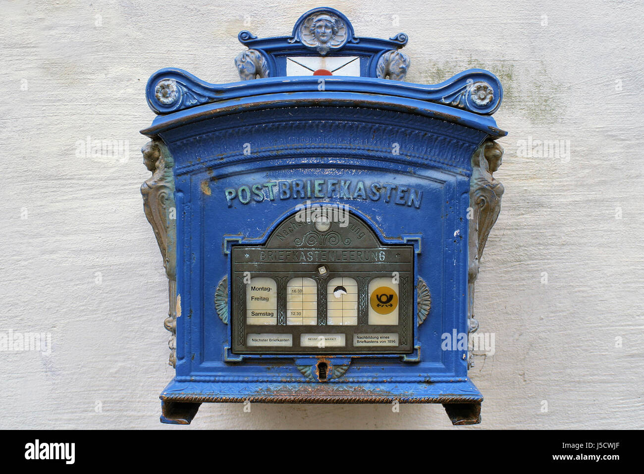 Historical Antique Mailbox Letter Mail Mailboxes Post 455 Depesche Stock Photo Alamy