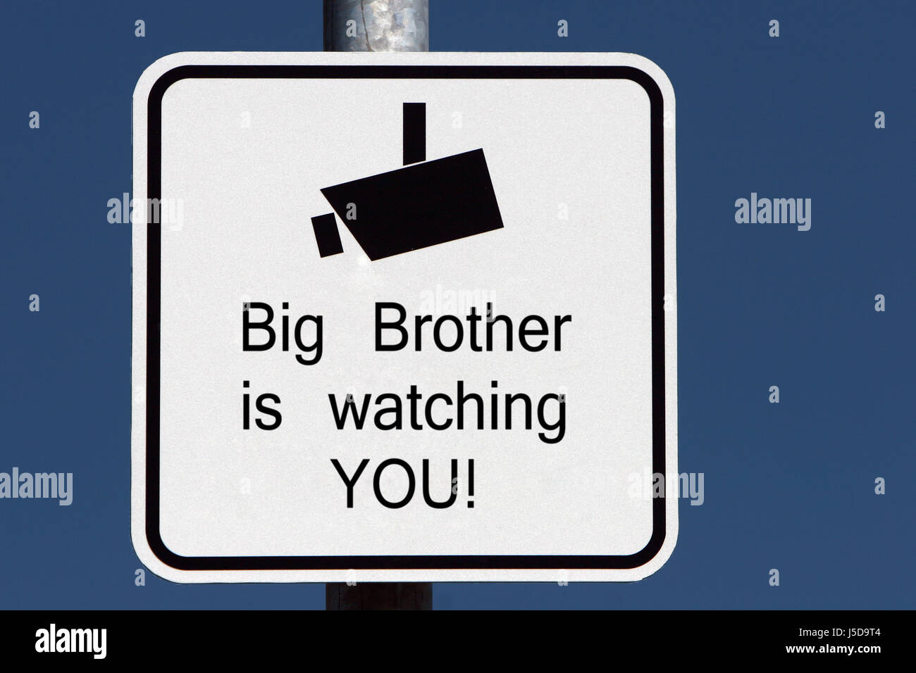 big brother is watching you - Stock Image