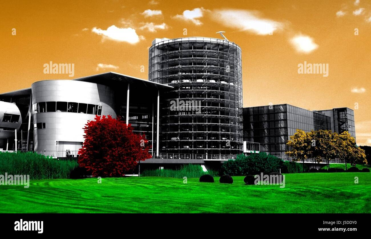 transparent factory - Stock Image