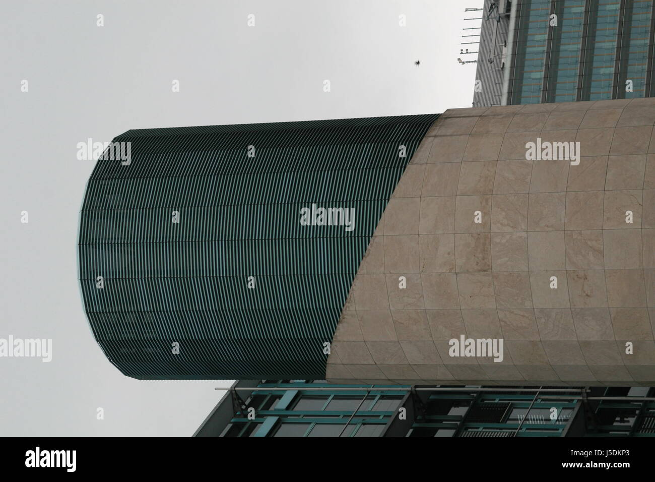 detail function airing revetment ventilation functional constructional chimney - Stock Image