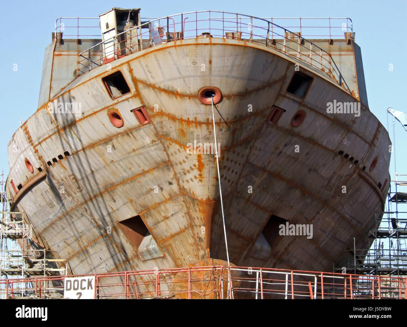 shipyard neuenfelde vi - Stock Image
