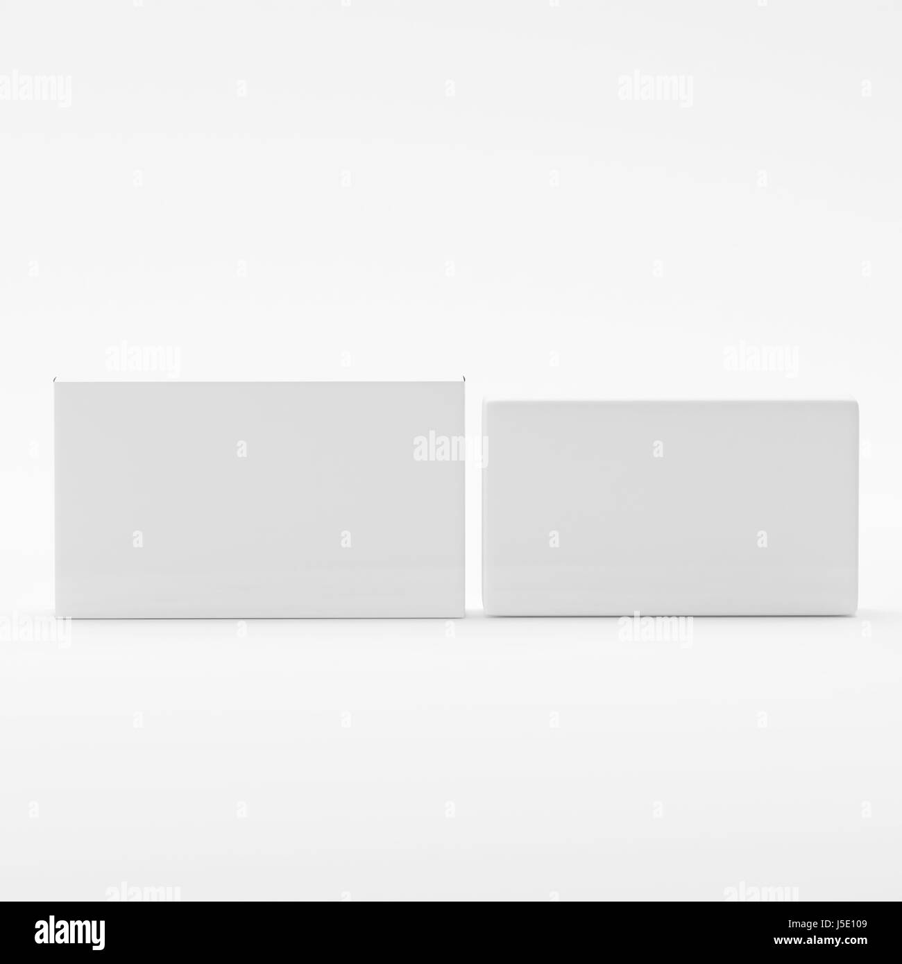 blank soap box packaging mock up template on isolated white stock