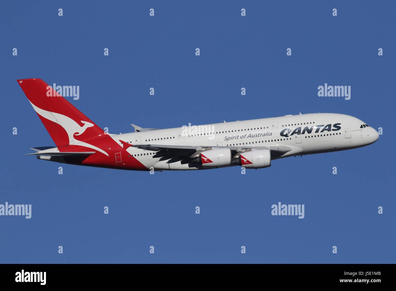 QANTAS A380 - Stock Image