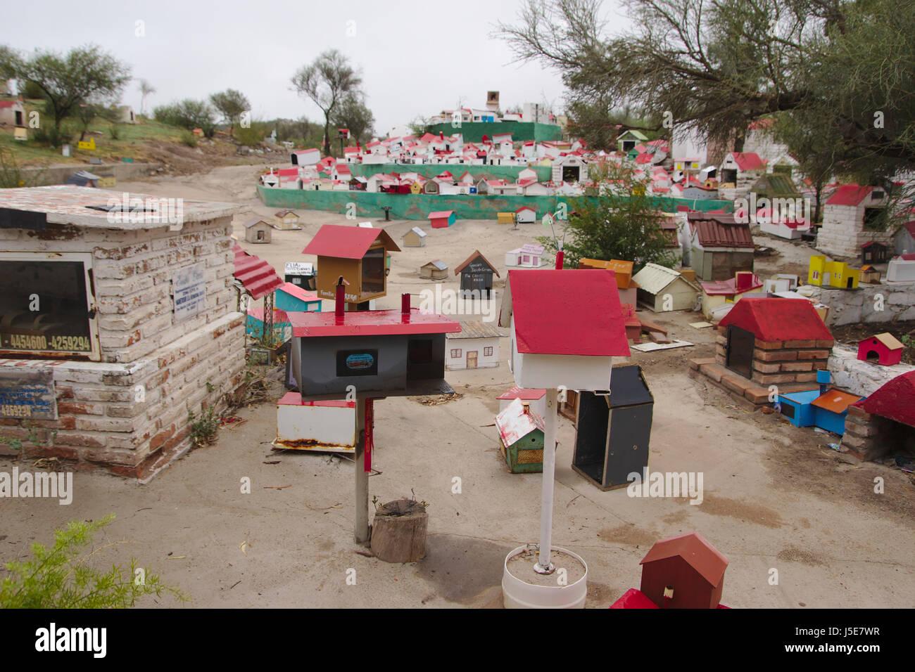 Shrines for Difunta Correa in Vallecito, San Juan Province, Argentina - Stock Image
