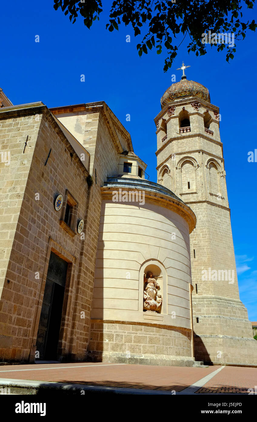 oristano cathedral, sardinia, italy - Stock Image