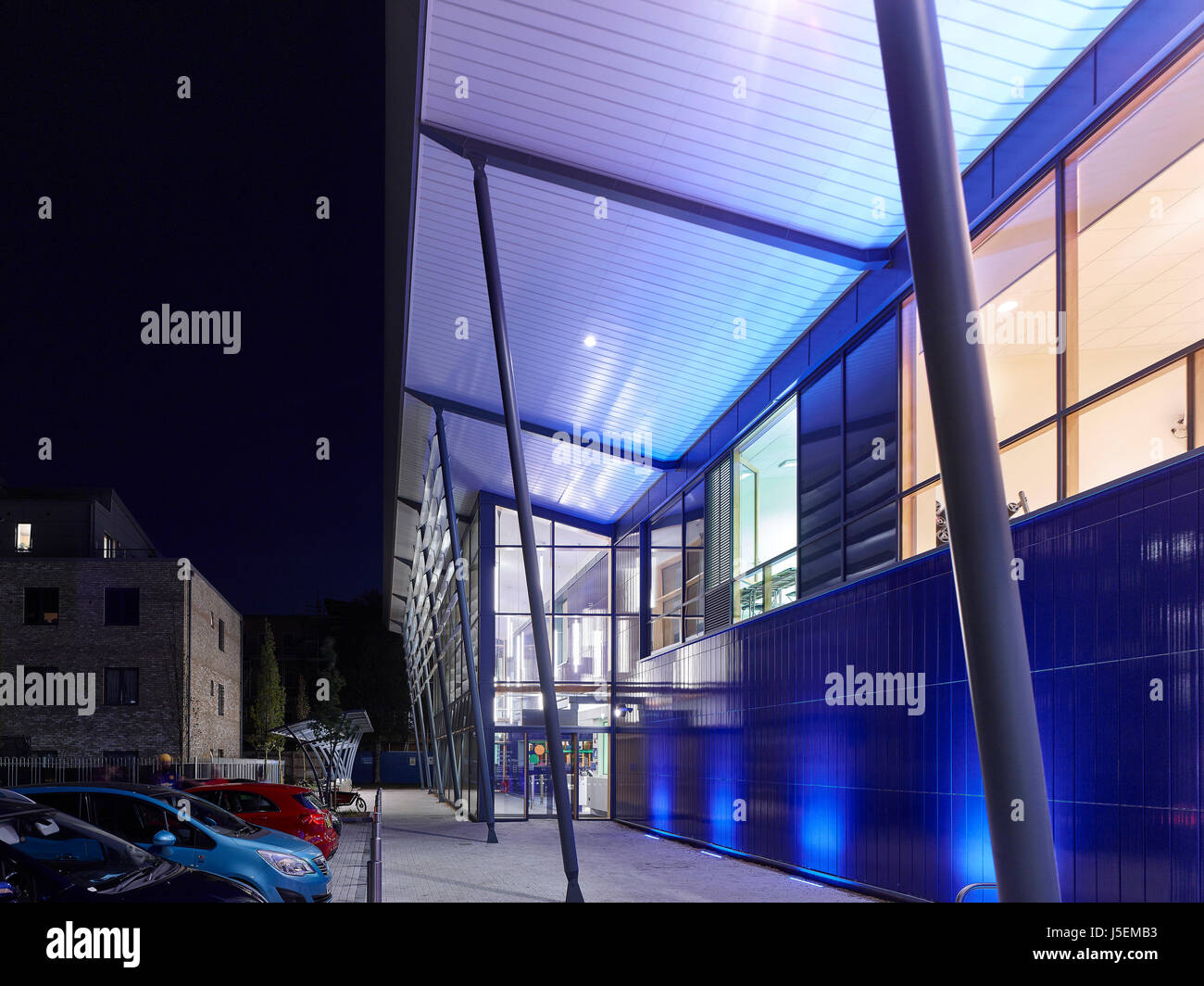 front at dusk heston leisure centre hounslow united kingdom stock rh alamy com