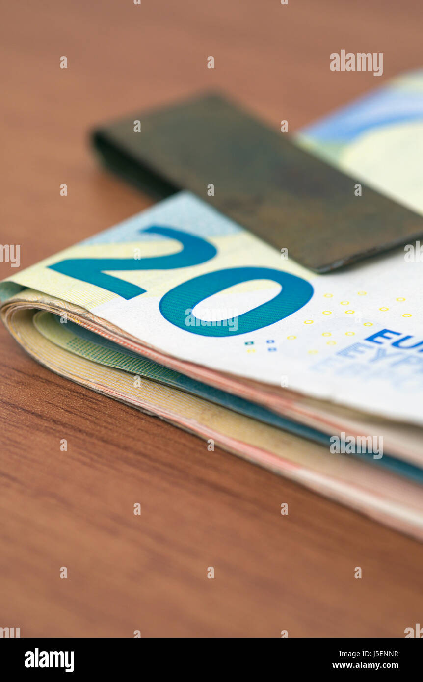 money clip - Stock Image