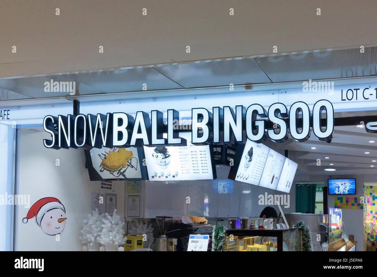 Snowball bingsoo shop, Kuala Lumpur, Malaysia - Stock Image