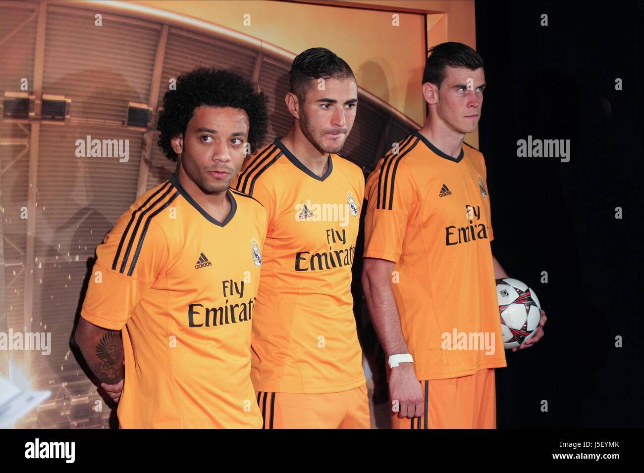 new style 1f055 6a618 MARCELO K BENZEMA BALE REAL MADRID KIT LAUNCH REAL MADRID ...