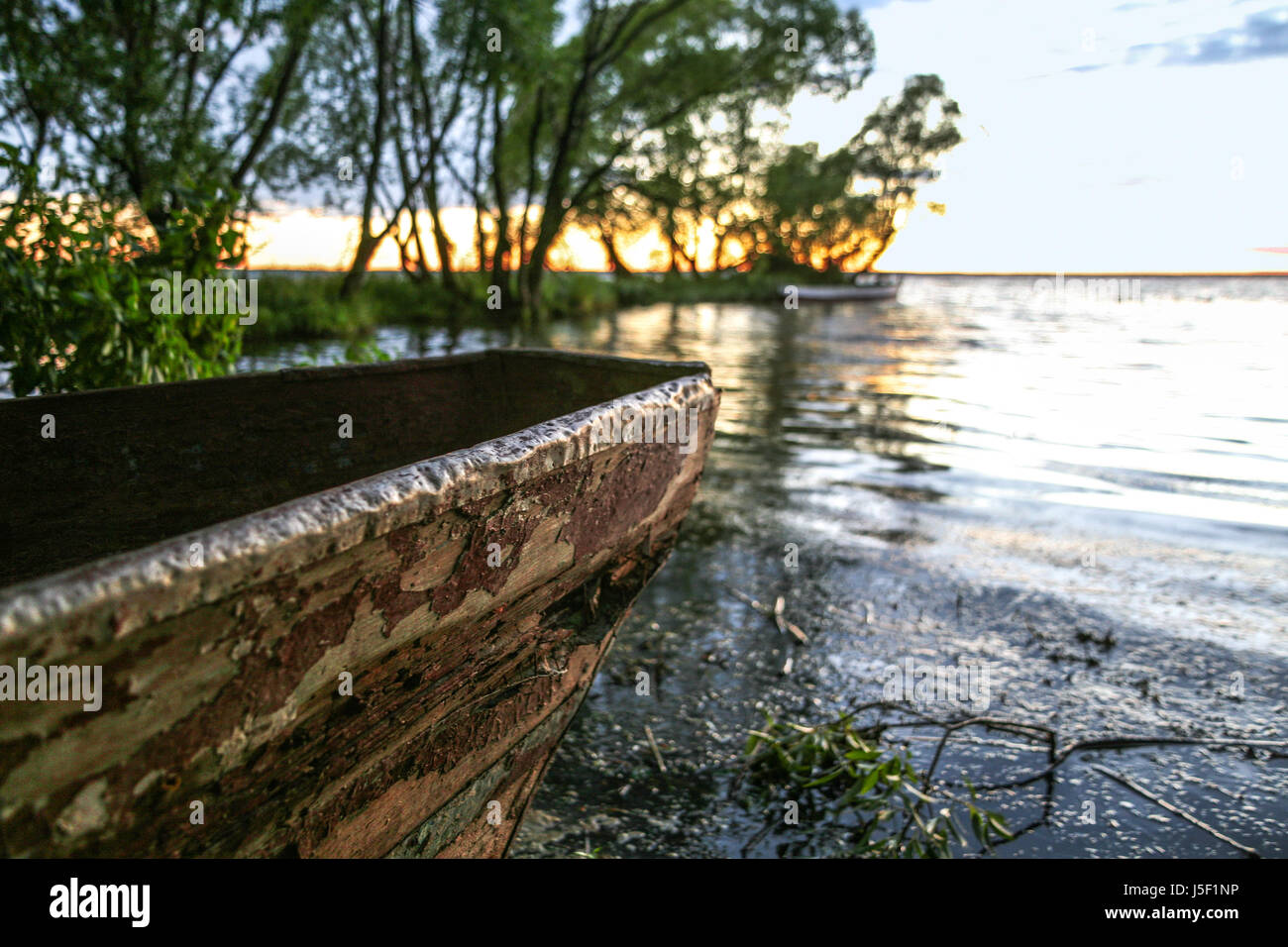grief of the old boat - Stock Image