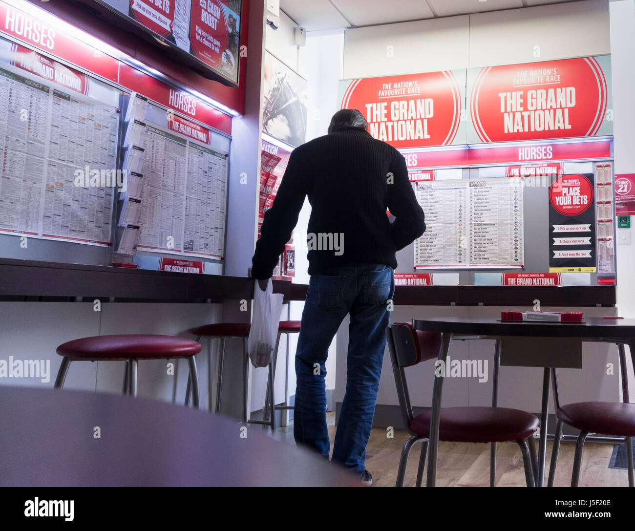 Labrokes betting shop on Grand National day. UK Stock Photo
