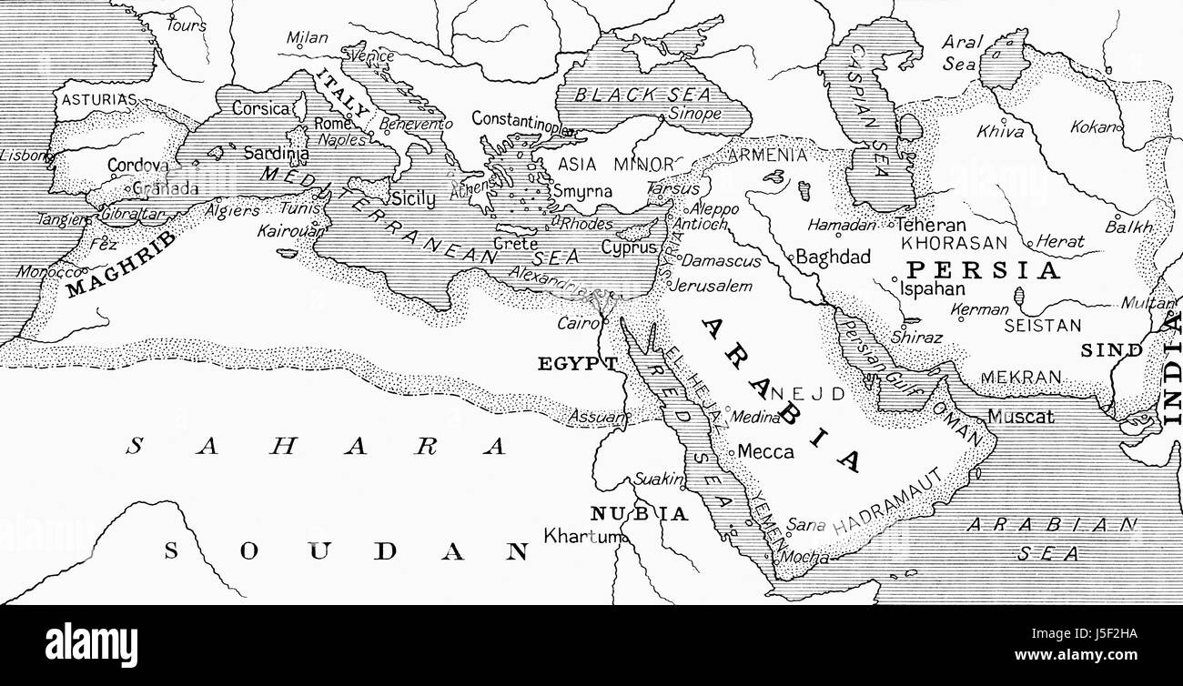 Map Of Spain 8th Century.Umayyad Caliphate Stock Photos Umayyad Caliphate Stock Images Alamy