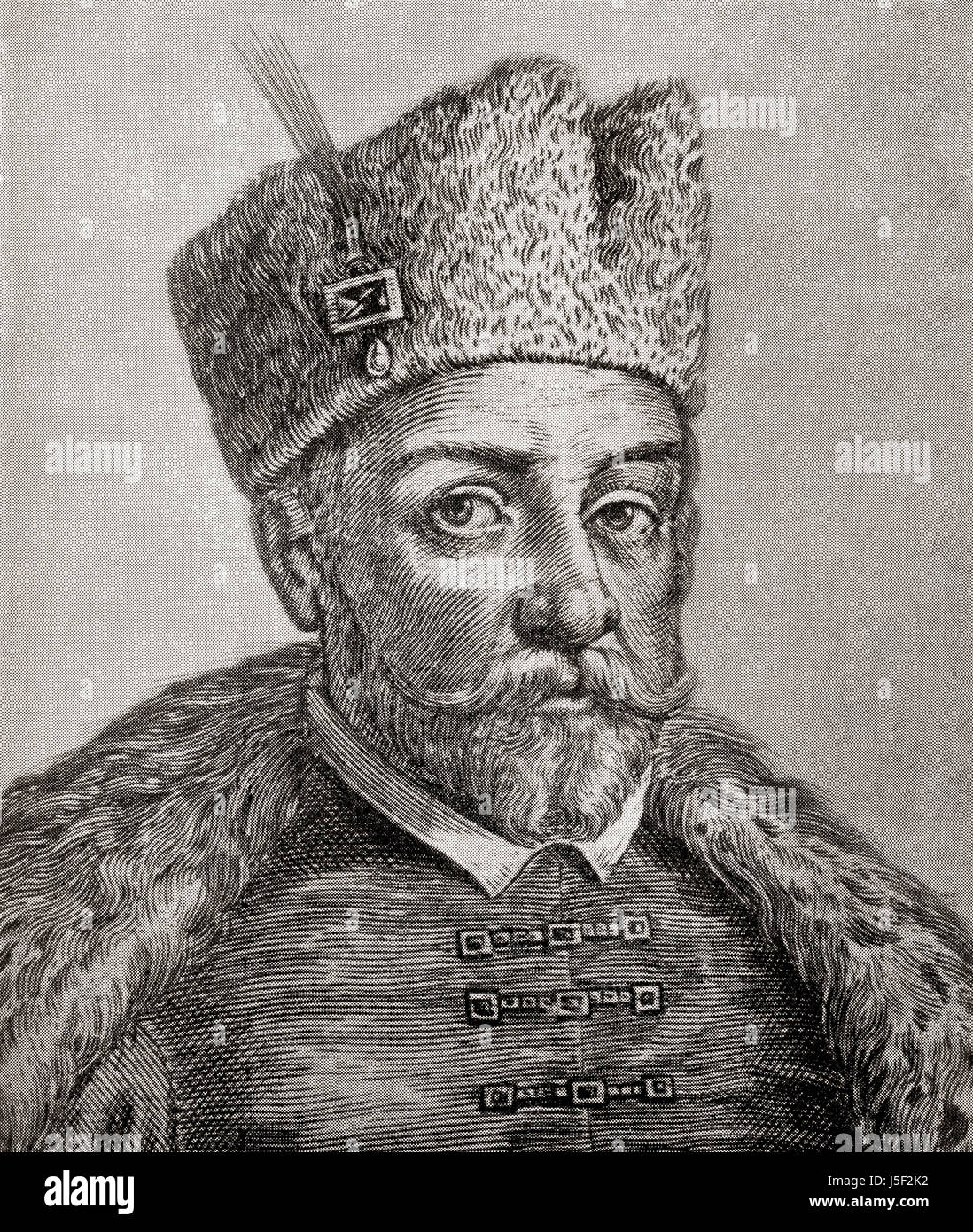 Ivan IV Vasilyevich, 1530 – 1584, aka Ivan the Terrible or Ivan the Fearsome.  Grand Prince of Moscow from 1533 - Stock Image