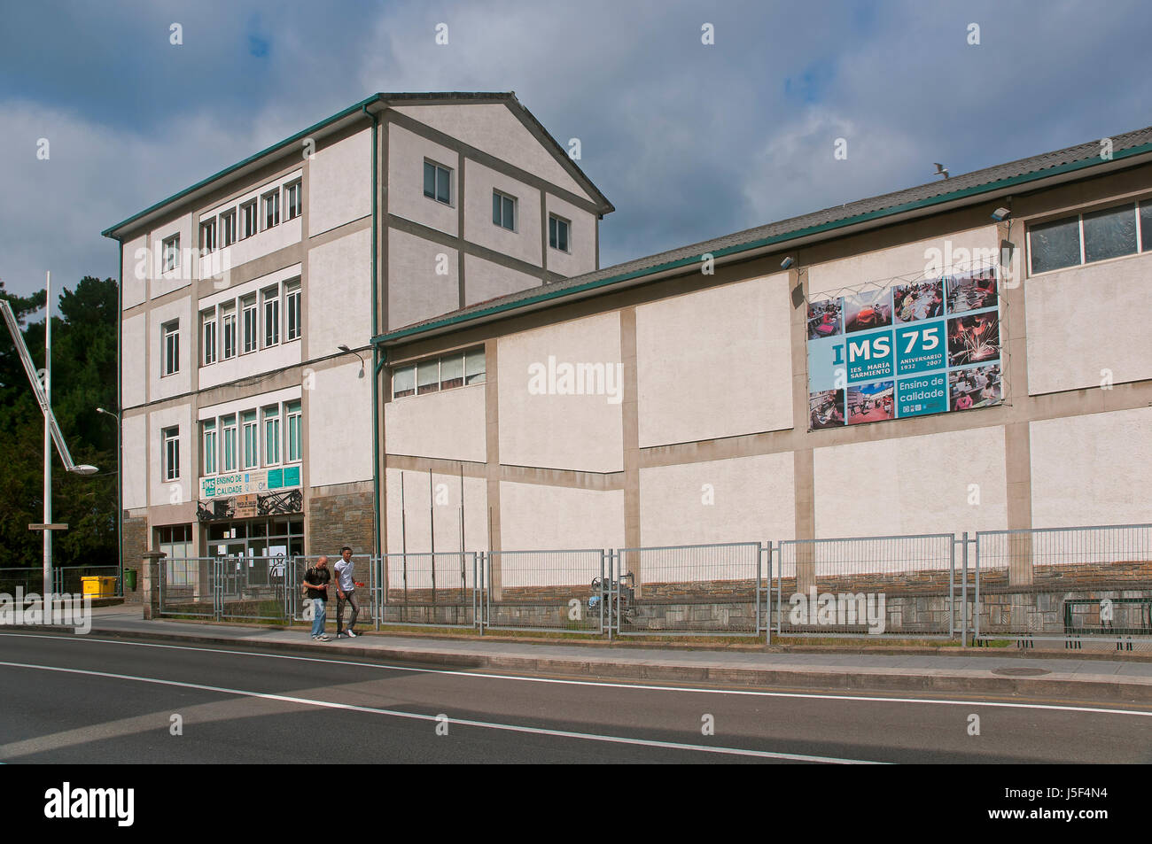 Secondary School Maria Sarmiento, Viveiro, Lugo province, Region of Galicia, Spain, Europe - Stock Image
