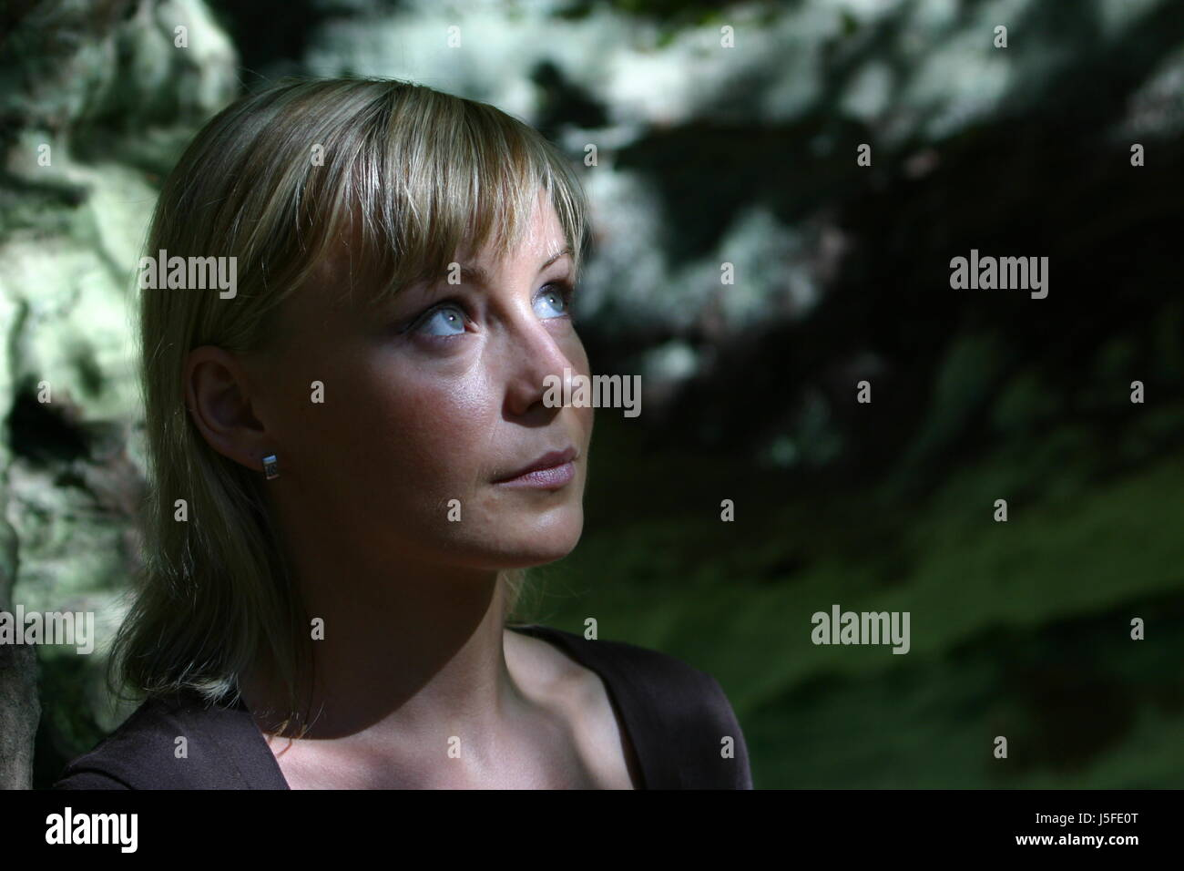 woman friendly kind dapper accosting pretty prettily prettier ravishing - Stock Image
