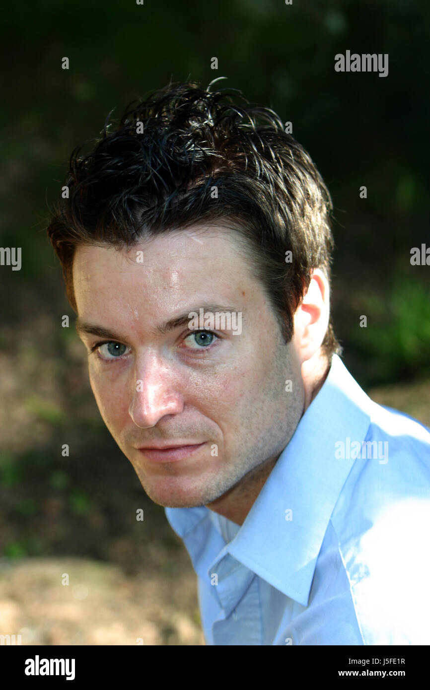 earnest portrait dapper accosting pretty prettily prettier ravishing attractive - Stock Image