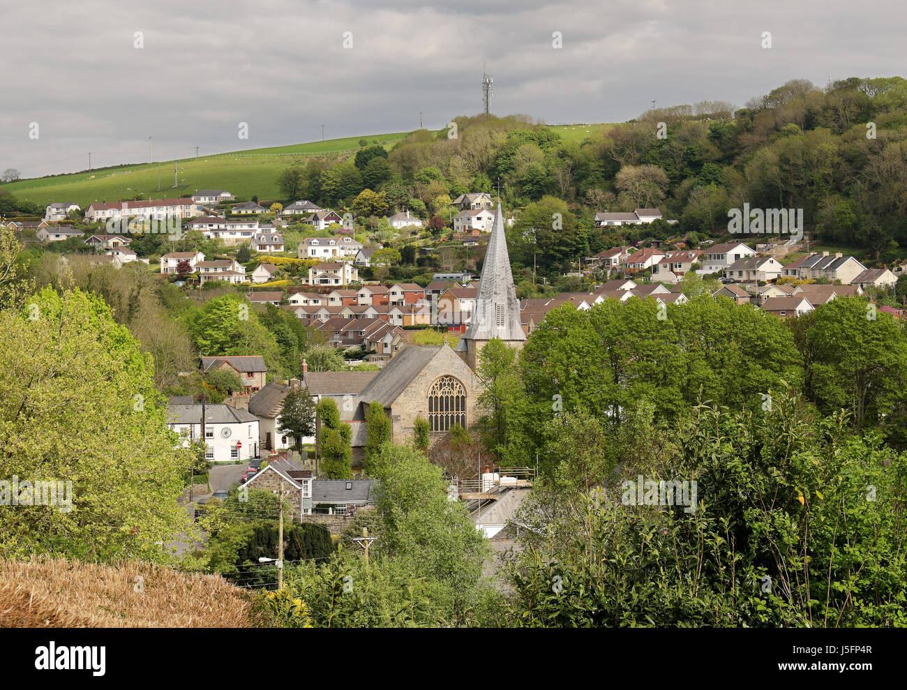 The Village of Braunton in North Devon, UK - Stock Image