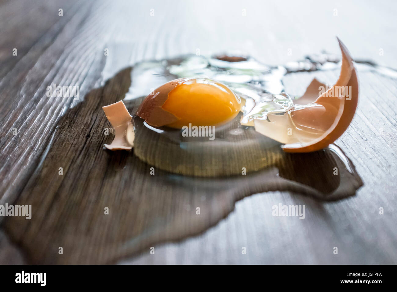 Broken Egg - Stock Image