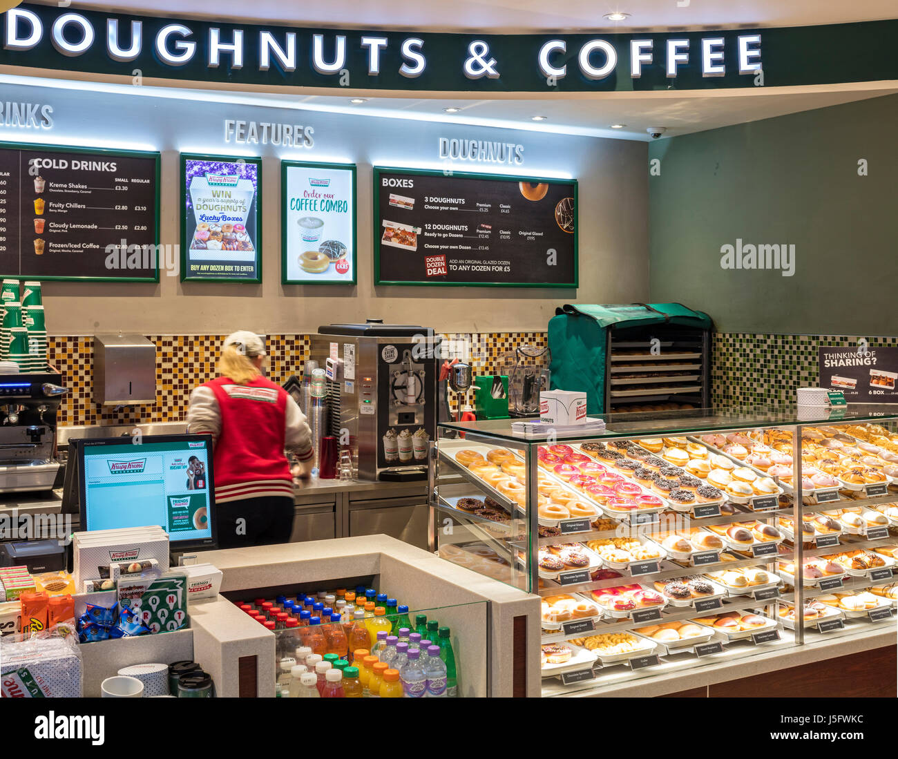 Krispy Kreme Glasgow Central Station - Stock Image