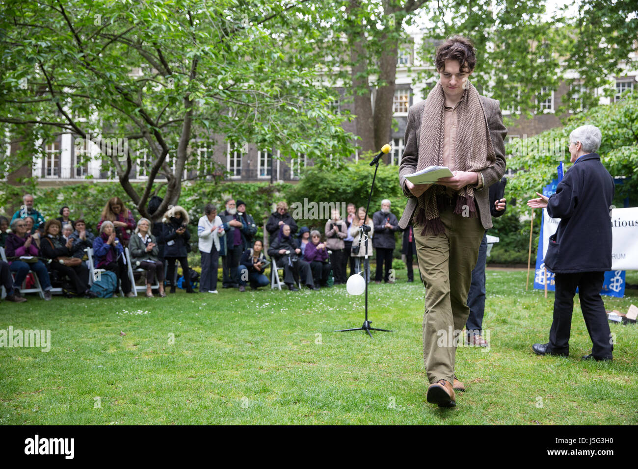 London, UK. 15th May, 2017. Actor Patrick Walshe McBride attends a ceremony in honour of conscientious objectors - Stock Image