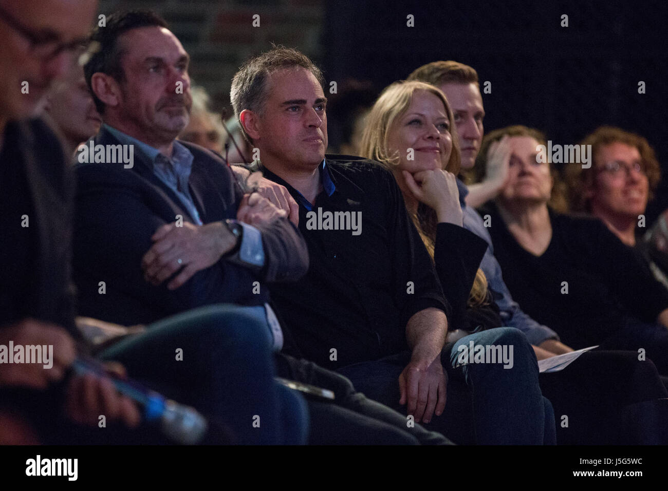 London, UK. 15th May, 2017. Paul Mason, Jonathan Bartley and Sian Berry, attend the launch event for the Progressive - Stock Image