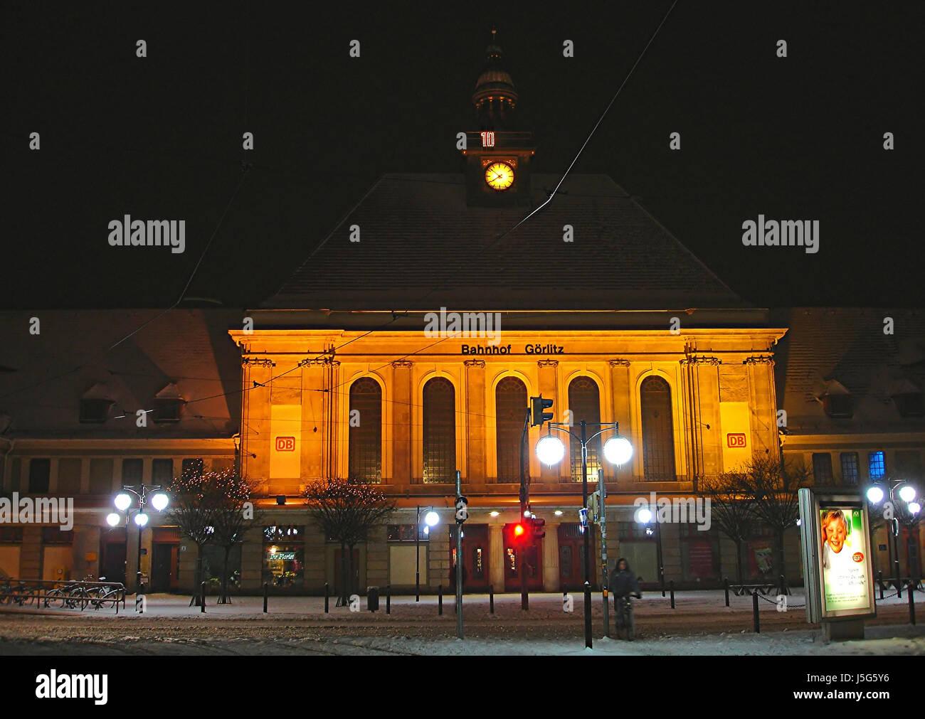 station church statue night photograph long-term exposure sightseeing organ Stock Photo