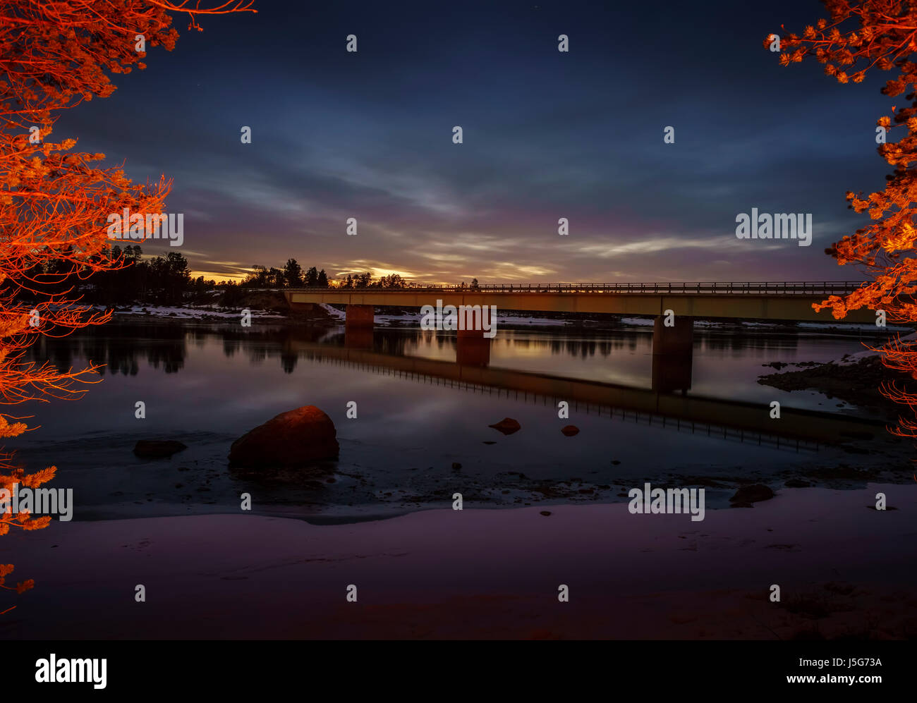Paatsjoki River, by Hotel Nellim, Lapland, Finland Stock Photo
