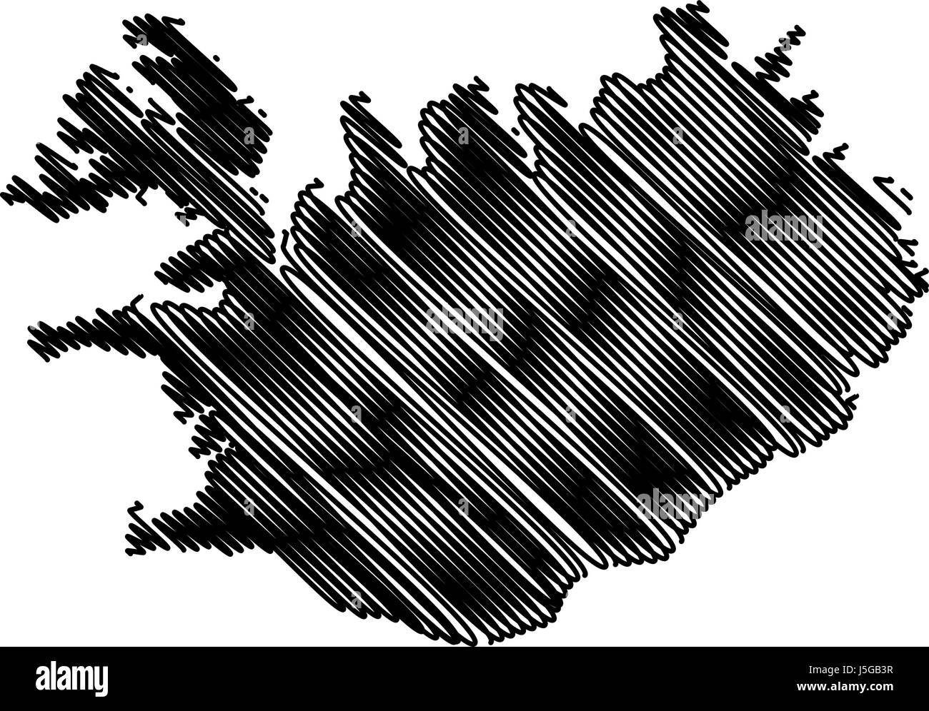 Iceland Map Outline Stock Vector Images - Alamy